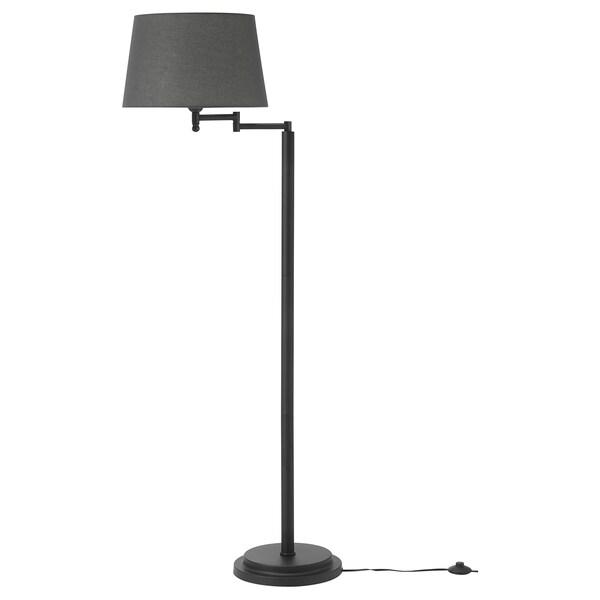 Floor Lamp W Swing Arm Led Bulb Halkip Gray