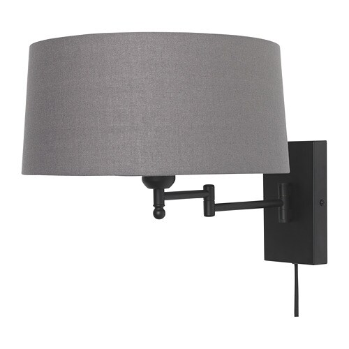 halkip wall lamp with swing arm ikea. Black Bedroom Furniture Sets. Home Design Ideas