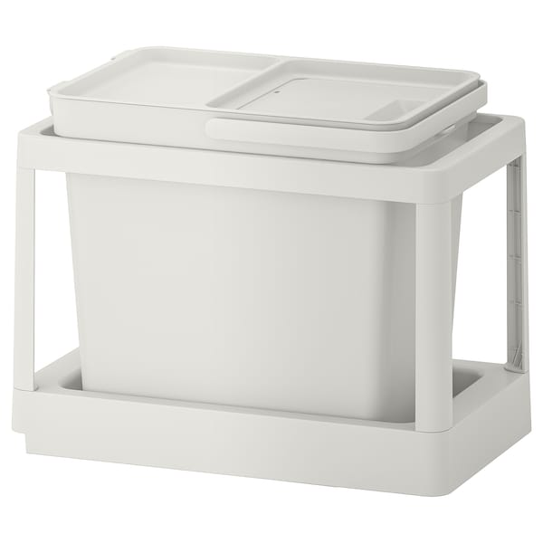 HÅLLBAR recycling solution with pull-out/light gray 6 gallon