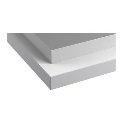 HÄLLESTAD Countertop, double-sided, white, aluminum effect with metal effect edge white/aluminum effect with metal effect edge 98x1 1/2