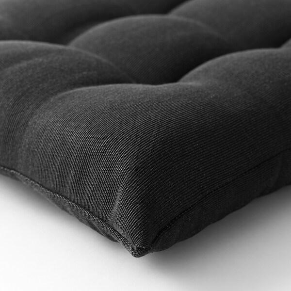 "HÅLLÖ Seat/back pad, outdoor, black, 45 5/8x18 1/2 """