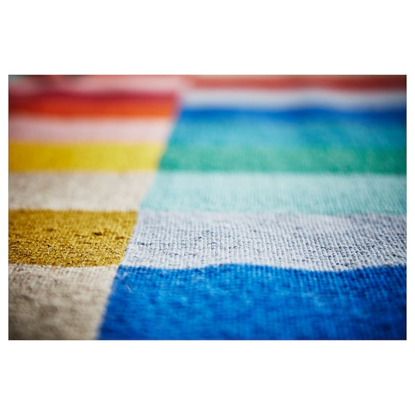 "HALVED Rug, flatwoven, handmade multicolor, 5 ' 7 ""x7 ' 10 """