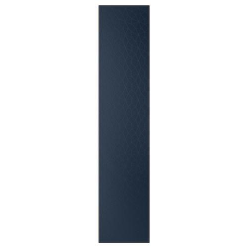 """HAMNÅS door with hinges black-blue 19 1/2 """" 90 3/8 """" 93 1/8 """" 5/8 """""""