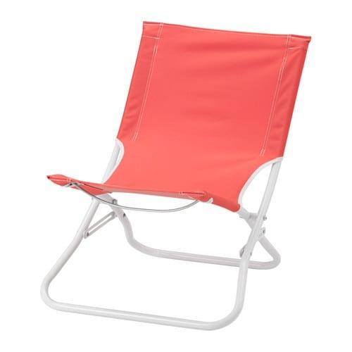 HÅMÖ Beach chair foldable light red IKEA