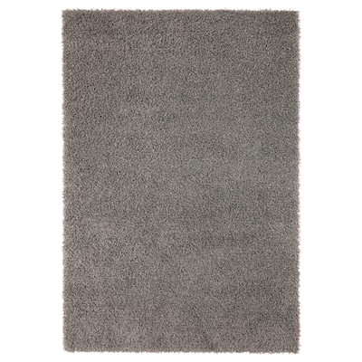 "HAMPEN Rug, high pile, gray, 4 ' 4 ""x6 ' 5 """