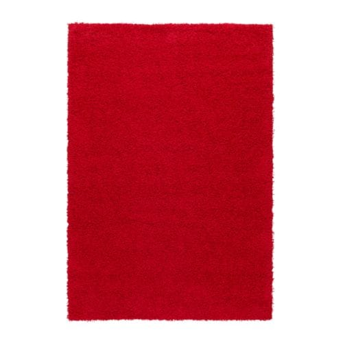 HAMPEN Rug, high pile , red Length: 6 ' 5