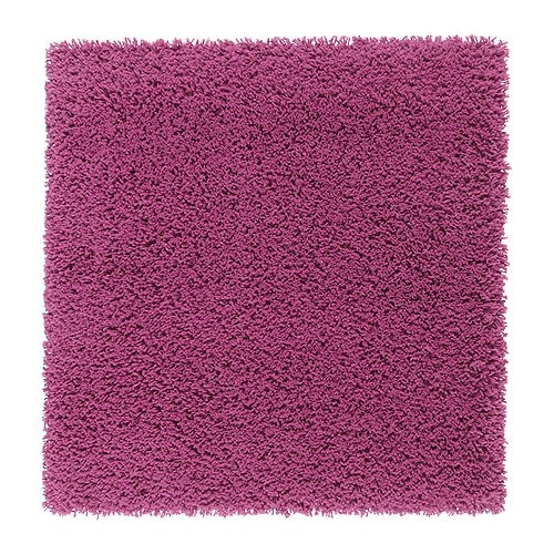 "HAMPEN Rug, high pile, dark pink Length: 2 ' 7 "" Width: 2 ' 7 "" Pile coverage: 4.75 oz/sq ft Max. pile length: 1 ¼ ""  Length: 80 cm Width: 80 cm Pile coverage: 1450 g/m² Max. pile length: 30 mm"