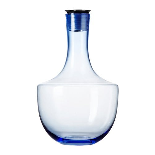HÄMTA Carafe IKEA The glass is mouth blown, which makes each piece unique. Drip-free spout makes it easier to pour without spilling.