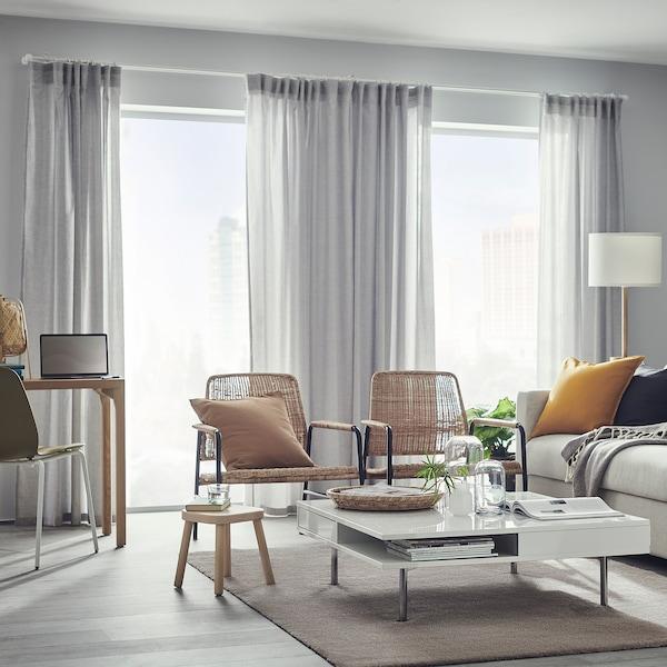 "HANNALILL Curtains, 1 pair, gray, 57x98 """