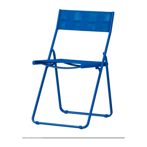 HÄRÖ Folding chair IKEA Foldable.   Saves space when stored or not in use.  The materials in this outdoor furniture require no maintenance.