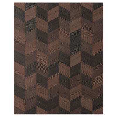 """HASSLARP Door, brown patterned, 24x30 """""""