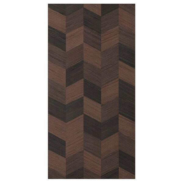 """HASSLARP Door, brown/right-handed patterned, 15x30 """""""