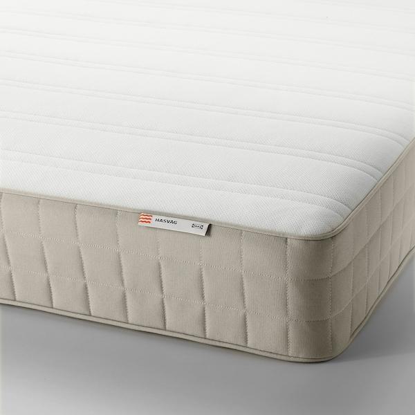 HASVÅG Spring mattress, medium firm/beige, Full
