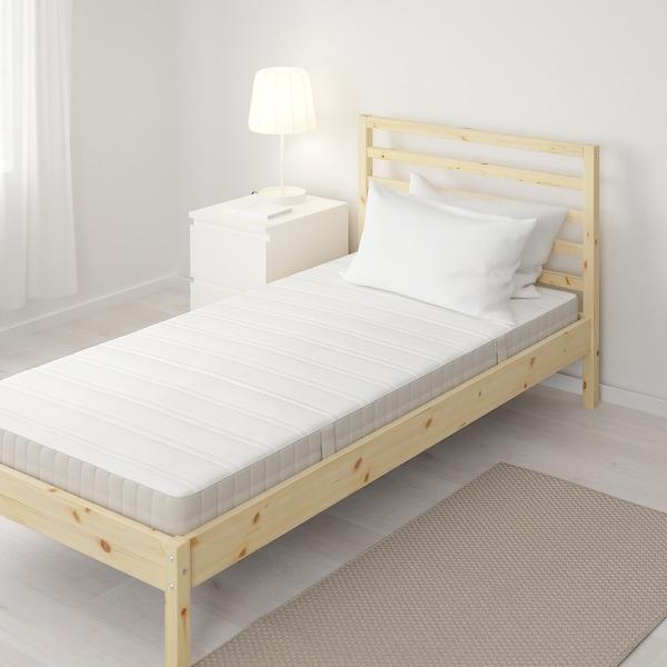 HASVÅG Spring mattress, medium firm/beige, Twin