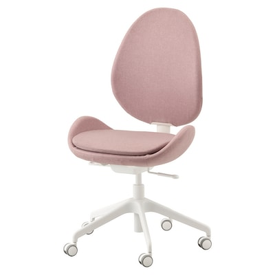 HATTEFJÄLL Office chair, Gunnared light brown-pink