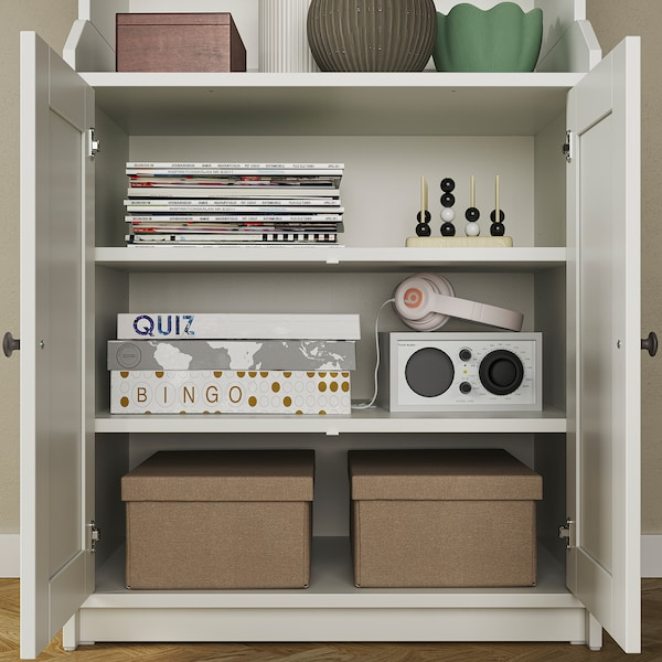 "HAUGA High cabinet with 2 doors, white, 27 1/2x78 3/8 """