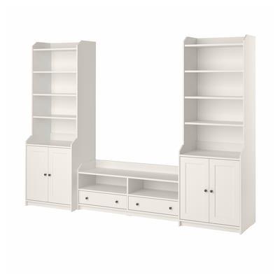"HAUGA TV/storage combination, white, 109x18 1/8x78 3/8 """
