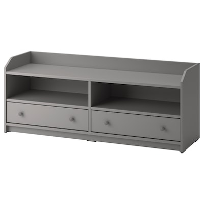 HAUGA TV unit, gray, 54 3/8x14 1/8x21 1/4 ""
