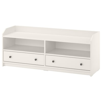 HAUGA TV unit, white, 54 3/8x14 1/8x21 1/4 ""