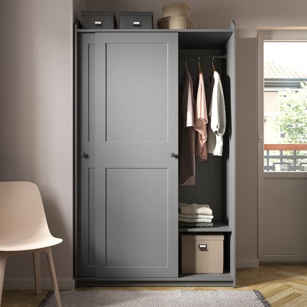 Hauga Wardrobe With Sliding Doors Gray 461 2x215 8x783 8 Ikea