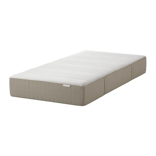 Haugesund Spring Mattress Medium Firm Dark Beige Twin Ikea