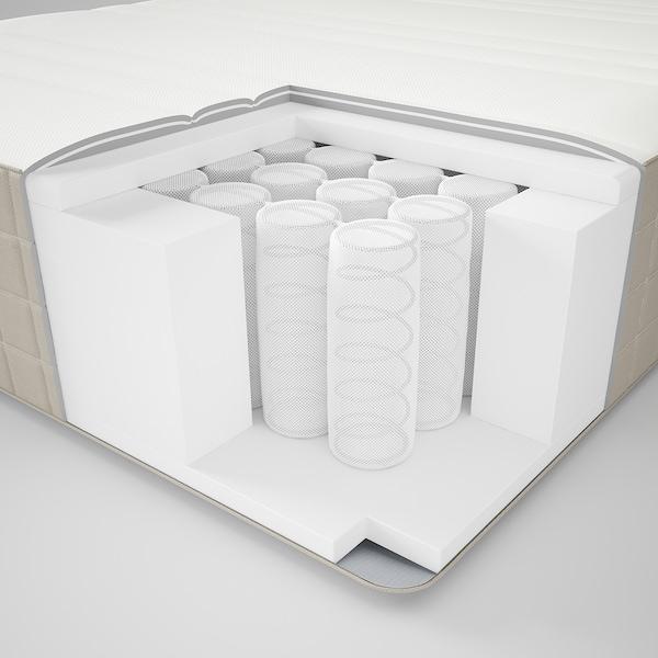 HAUGESUND Spring mattress, medium firm/dark beige, Twin