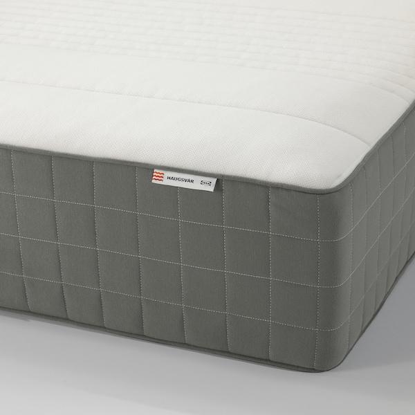 Haugsvar Hybrid Mattress Medium Firm Dark Gray King Ikea