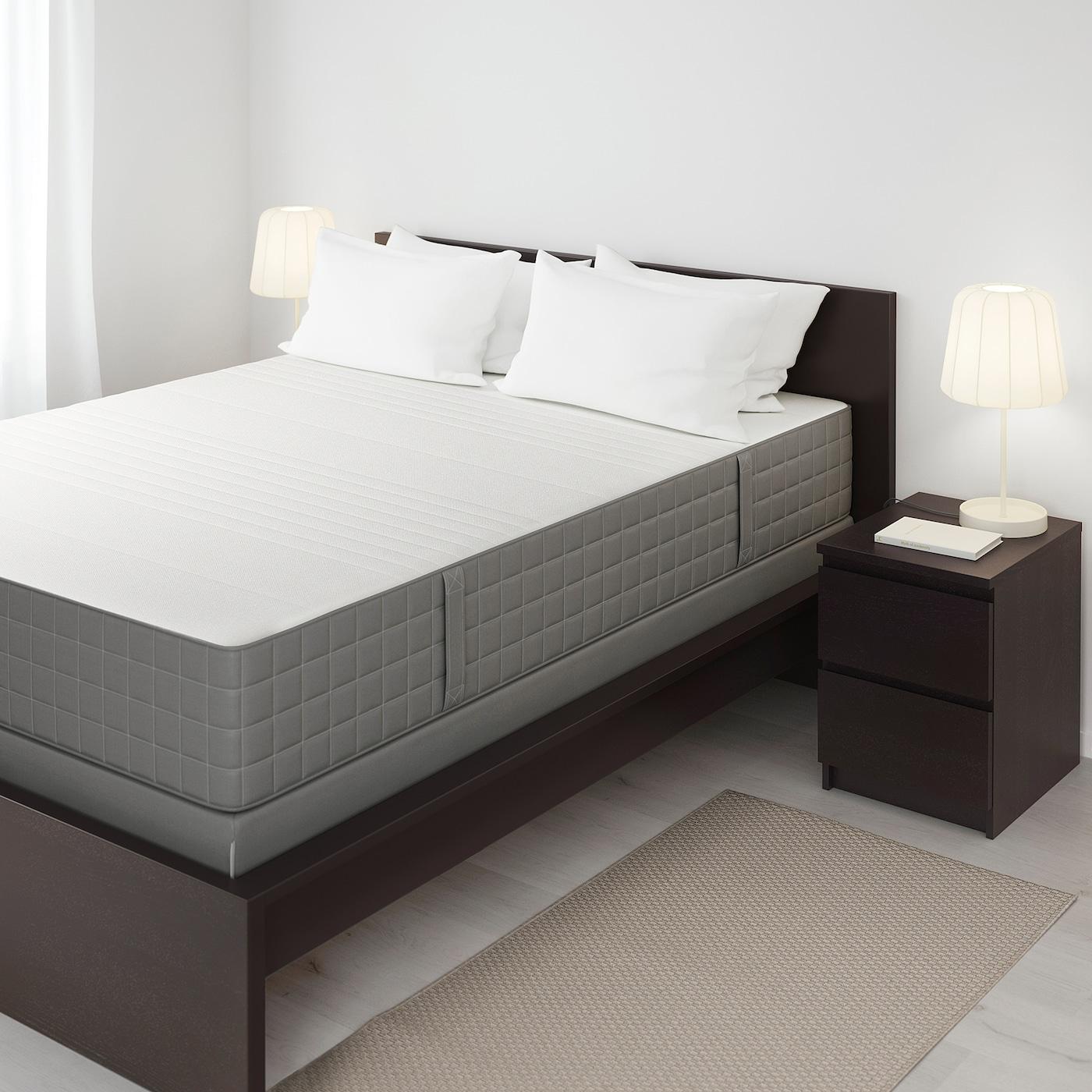 Haugsvar Hybrid Mattress Medium Firm Dark Gray Queen Ikea