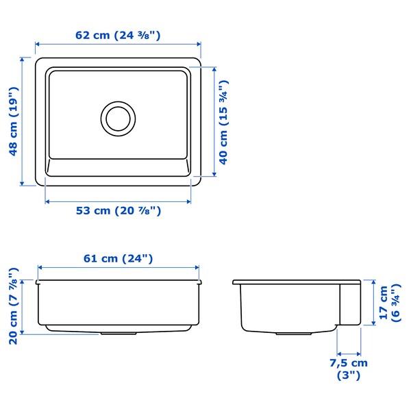 IKEA HAVSEN Apron front sink