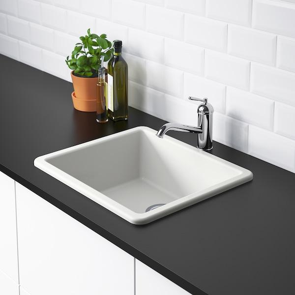 "HAVSEN Sink, white, 21x19 """