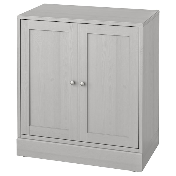 HAVSTA Cabinet with base, gray, 31 7/8x18 1/2x35 ""