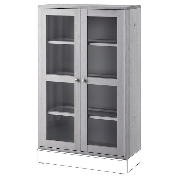"""HAVSTA Glass-door cabinet, gray, 31 7/8x13 3/4x48 3/8 """""""