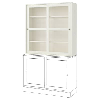 "HAVSTA Glass-door cabinet, white, 47 5/8x13 3/4x48 3/8 """
