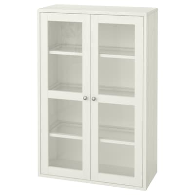 HAVSTA Glass-door cabinet, white, 31 7/8x13 3/4x48 3/8 ""