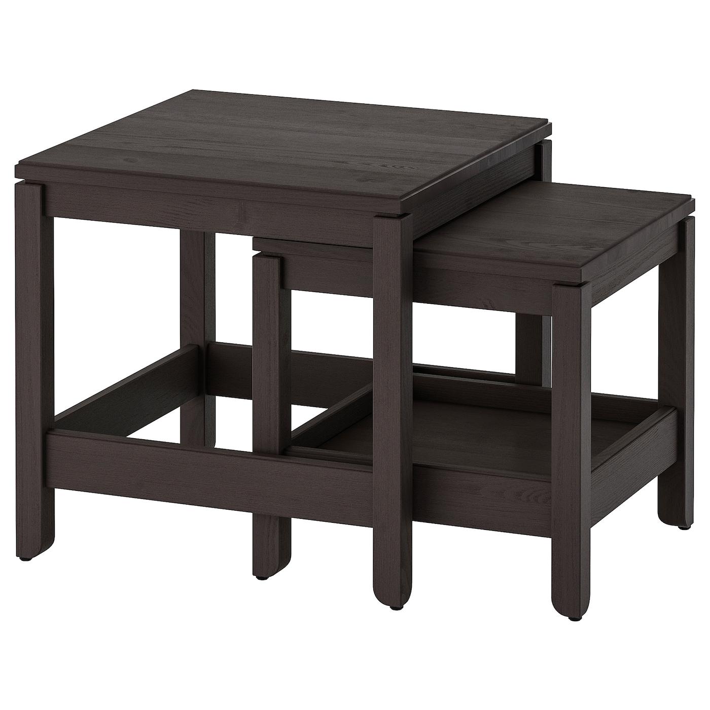 Havsta Nesting Tables Set Of 2 Dark