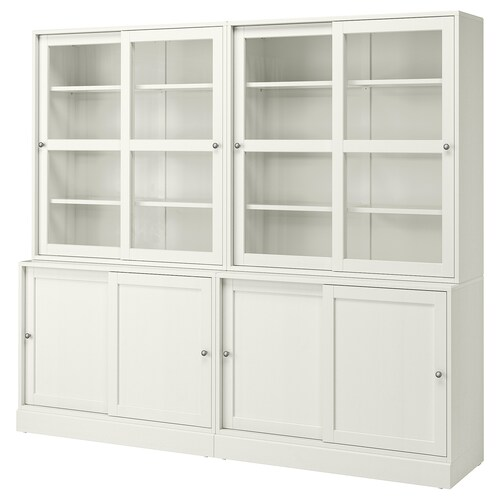 "HAVSTA storage with sliding glass doors white 95 1/4 "" 18 1/2 "" 83 1/2 "" 71 lb"