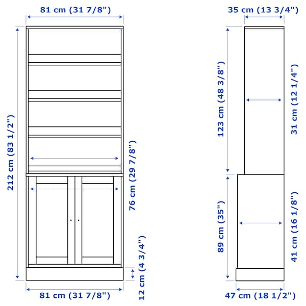 """HAVSTA Storage combination, dark brown, 31 7/8x18 1/2x83 1/2 """""""