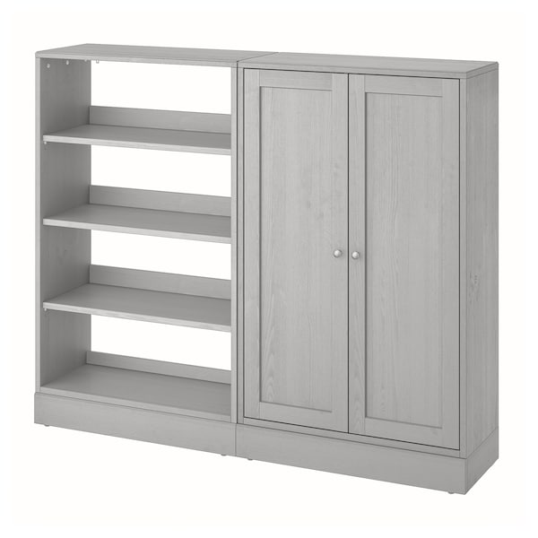 "HAVSTA Storage combination, gray, 63 3/4x14 5/8x52 3/4 """