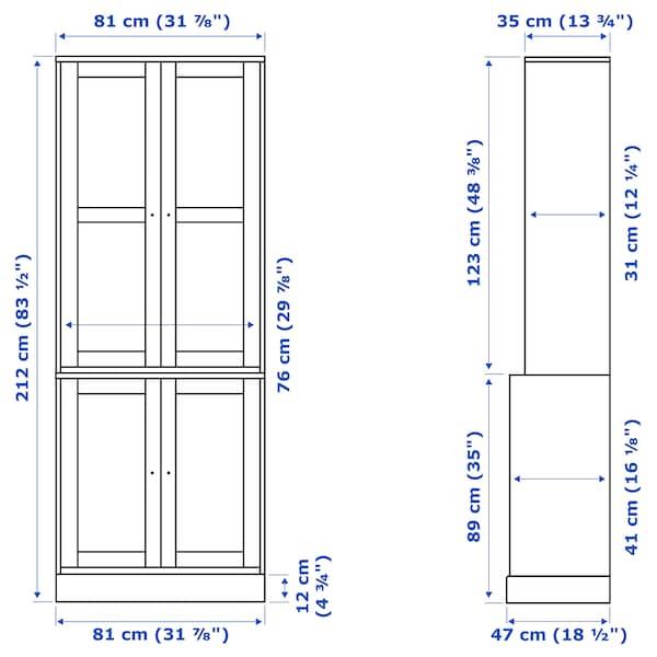 IKEA HAVSTA Storage combination w/glass doors