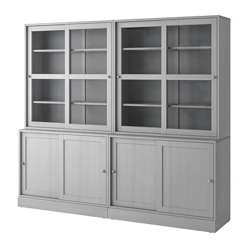 Havsta Storage With Sliding Gl Doors
