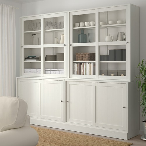 HAVSTA Storage with sliding glass doors IKEA Made of wood from sustainable sources.