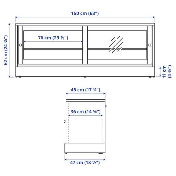 "HAVSTA TV unit with base, gray, 63x18 1/2x24 3/8 """