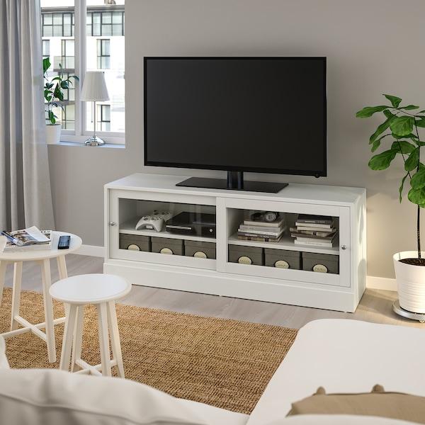 "HAVSTA TV unit with base, white, 63x18 1/2x24 3/8 """
