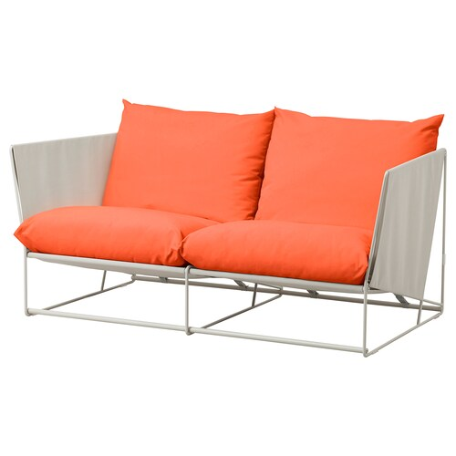 "HAVSTEN loveseat, in/outdoor orange/beige 70 1/2 "" 37 "" 35 3/8 "" 24 3/8 "" 16 1/2 """