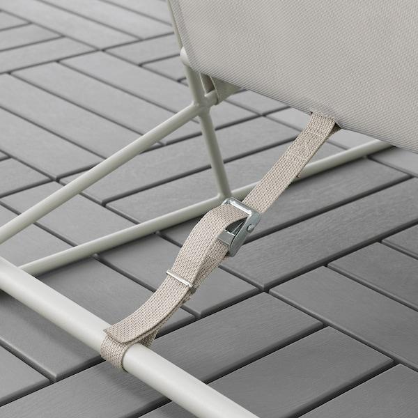 """HAVSTEN Armchair, in/outdoor, beige, 38 5/8x37x35 3/8 """""""