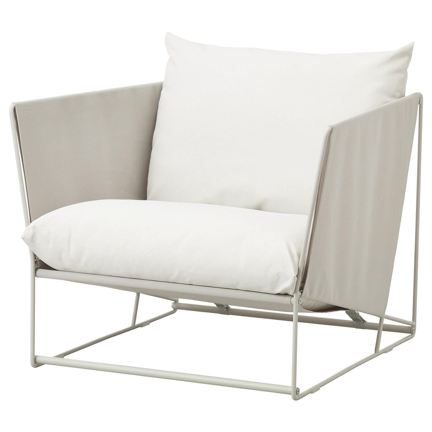 Havsten Armchair In Outdoor Beige Ikea