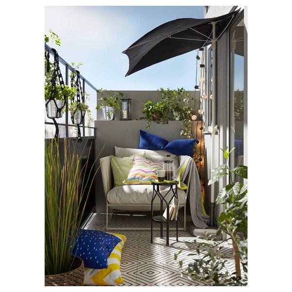 """HAVSTEN armchair, in/outdoor beige 38 5/8 """" 37 """" 35 3/8 """" 24 3/8 """" 16 1/2 """""""