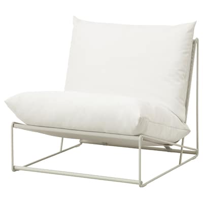 HAVSTEN Chair, in/outdoor, beige, 32 5/8x37x35 3/8 ""