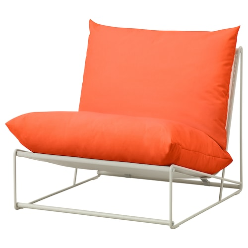 "HAVSTEN chair, in/outdoor orange/beige 32 5/8 "" 37 "" 35 3/8 "" 24 3/8 "" 16 1/2 """