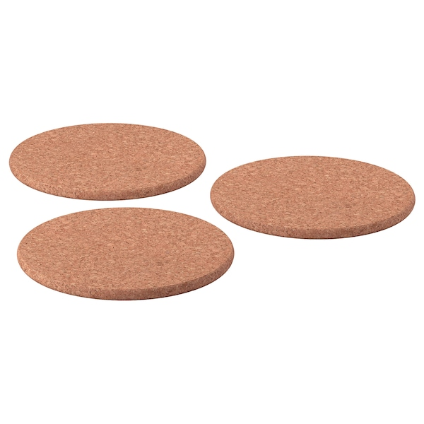 "HEAT trivet cork 7 "" 3 pack"